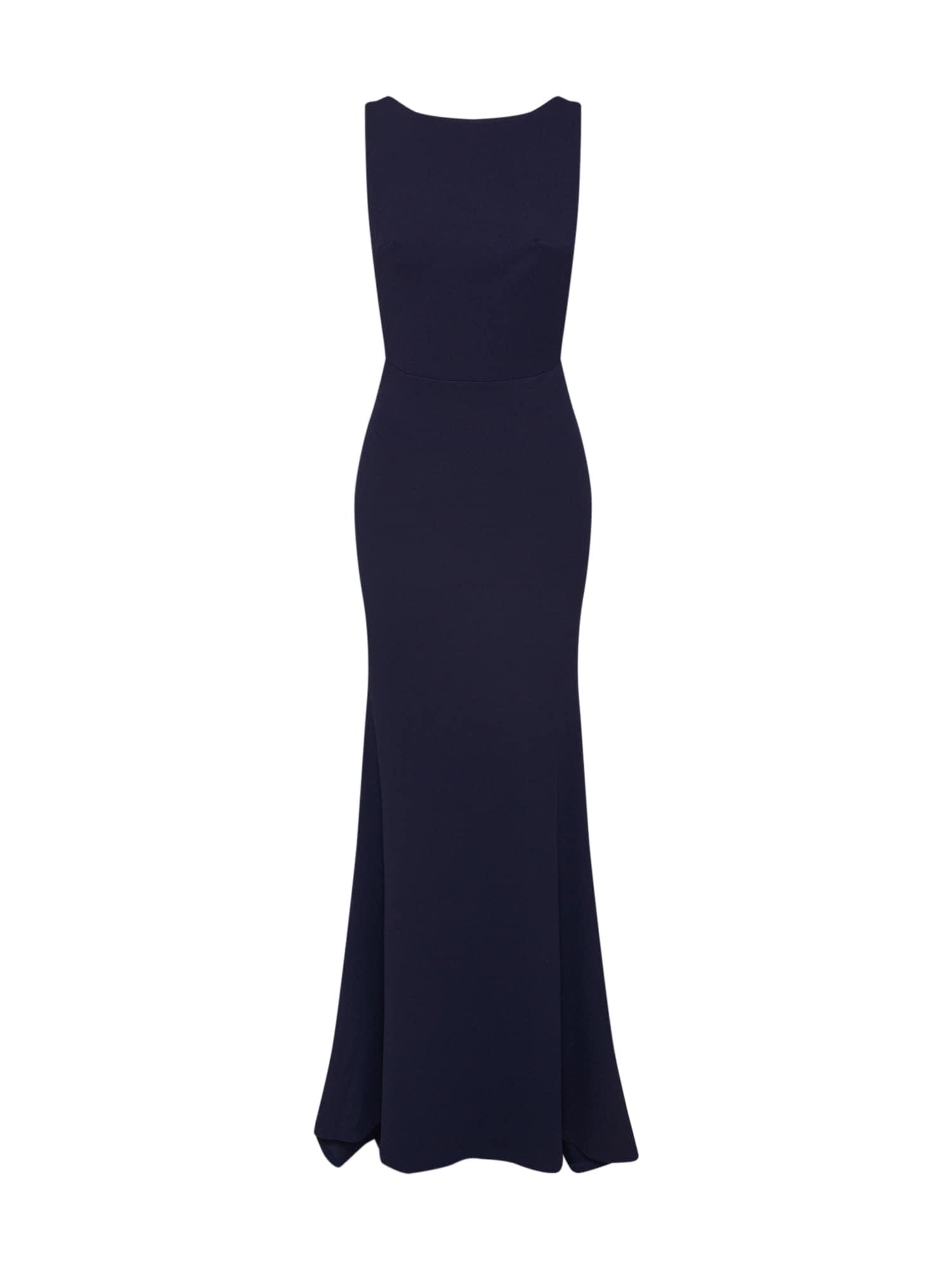 Missguided Rochie de seară 'BRIDESMAID SLEEVELESS LOW BACK MAXI DRESS'  albastru închis