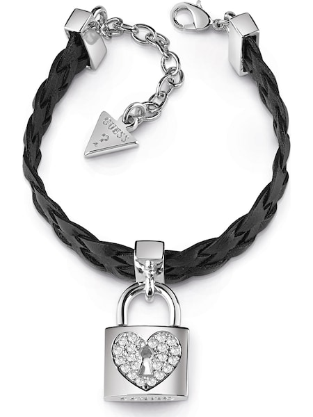 Armbaender - Armband 'Heart Lock' › Guess › silber  - Onlineshop ABOUT YOU