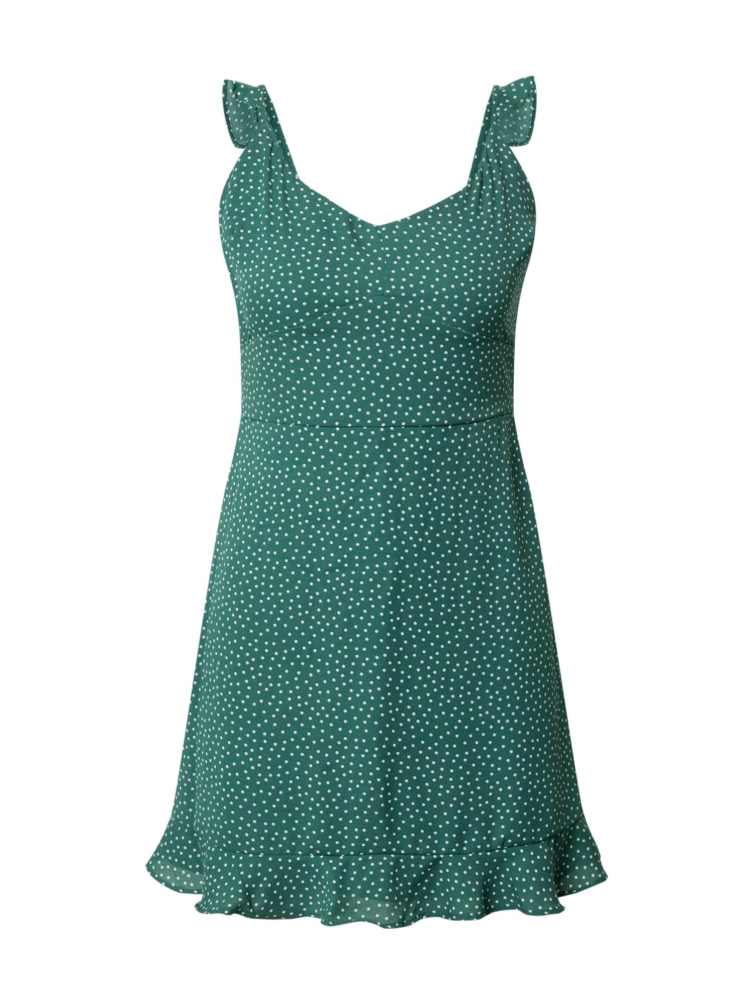 Abercrombie & Fitch Vasarinė suknelė žalia / balta
