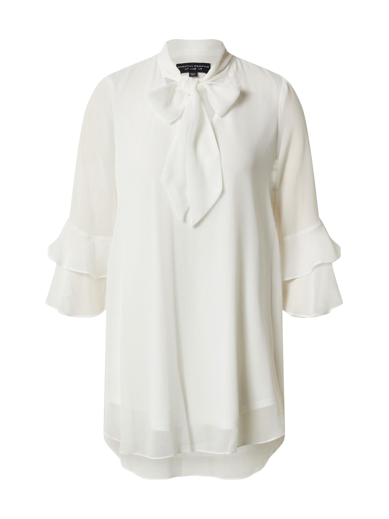 Dorothy Perkins Blúzka 'Ivory chiffon tunic'  biela