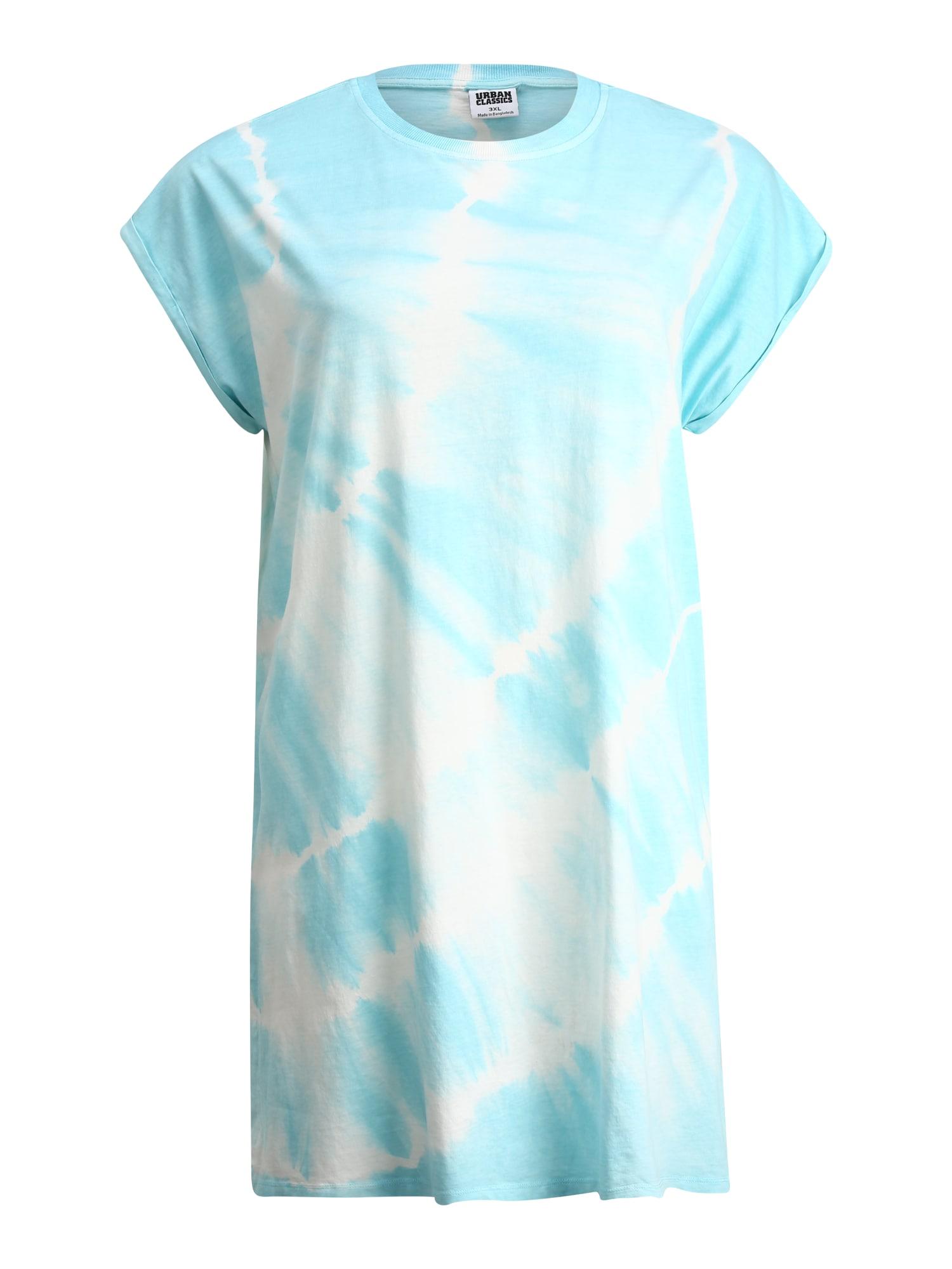 Urban Classics Curvy Šaty 'Tie Dye'  svetlomodrá