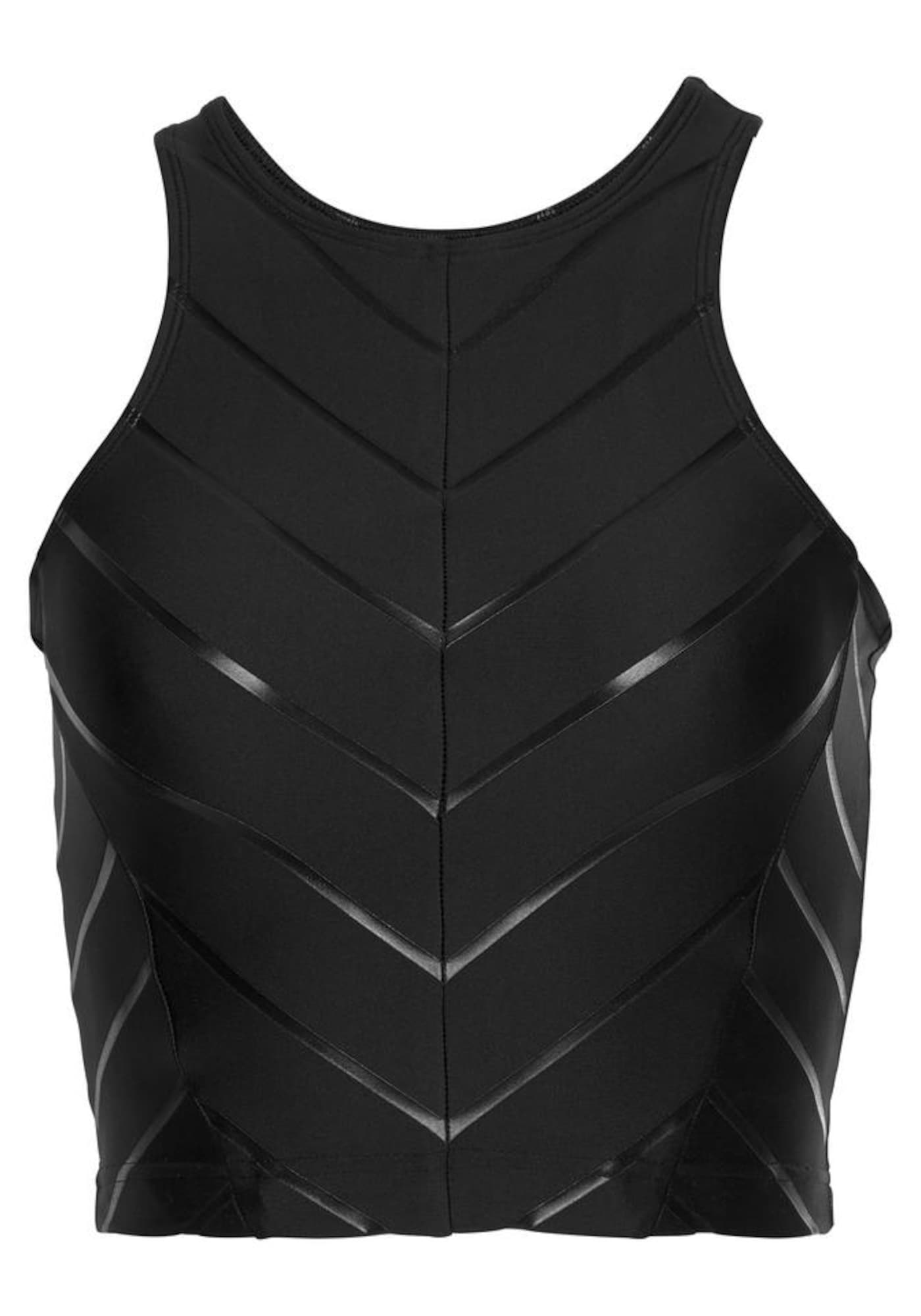 LASCANA ACTIVE Sportiniai marškinėliai be rankovių juoda