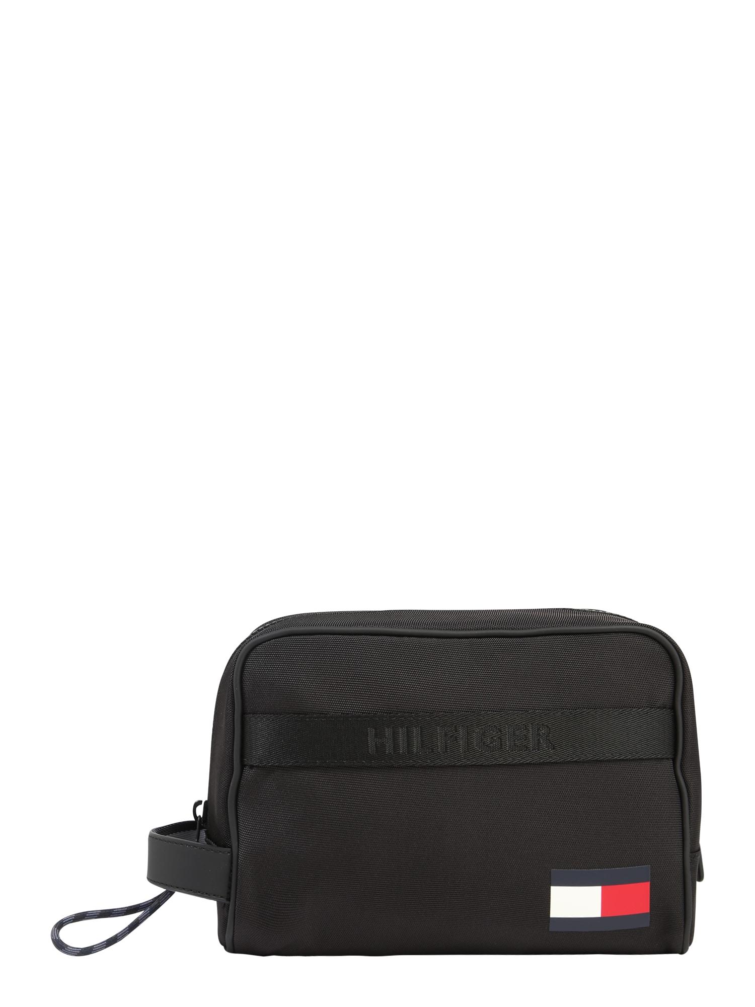 TOMMY HILFIGER Tuoleto reikmenų krepšys tamsiai mėlyna / balta / raudona / juoda