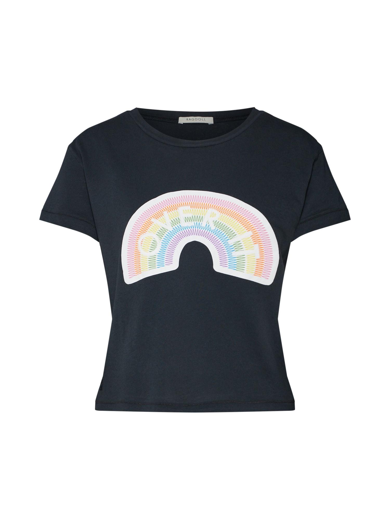 Tričko Rainbow Cropped Tee černá Ragdoll LA