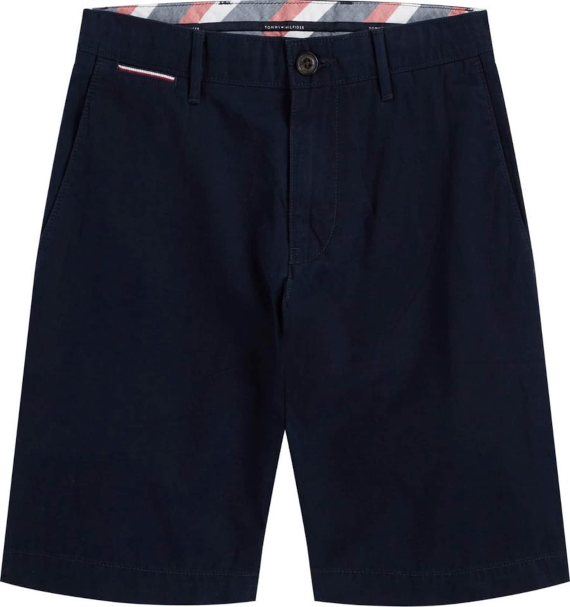 "TOMMY HILFIGER ""Chino"" stiliaus kelnės 'Brooklyn' tamsiai mėlyna / balta / ugnies raudona"