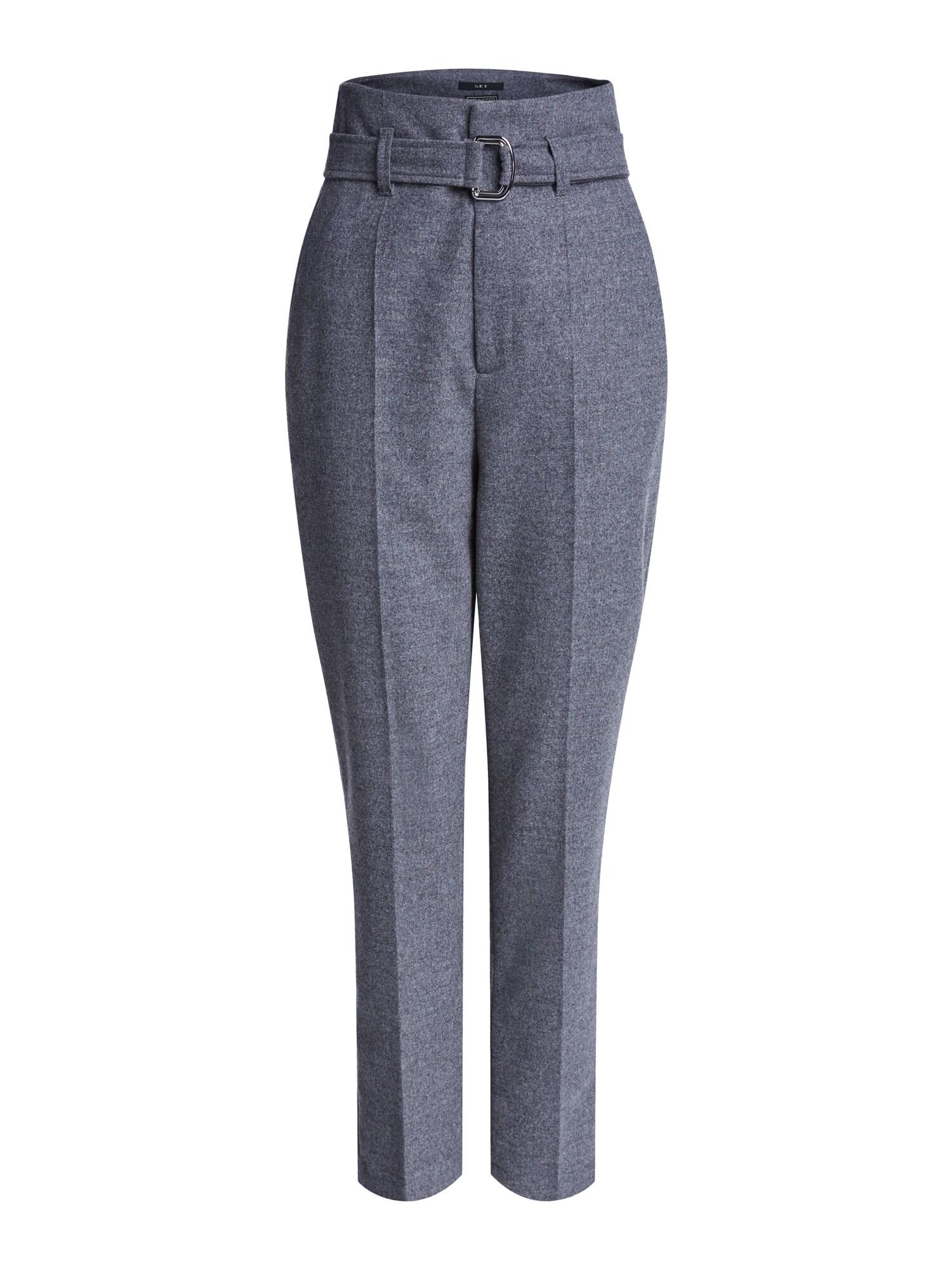 SET Kelnės su kantu pilka