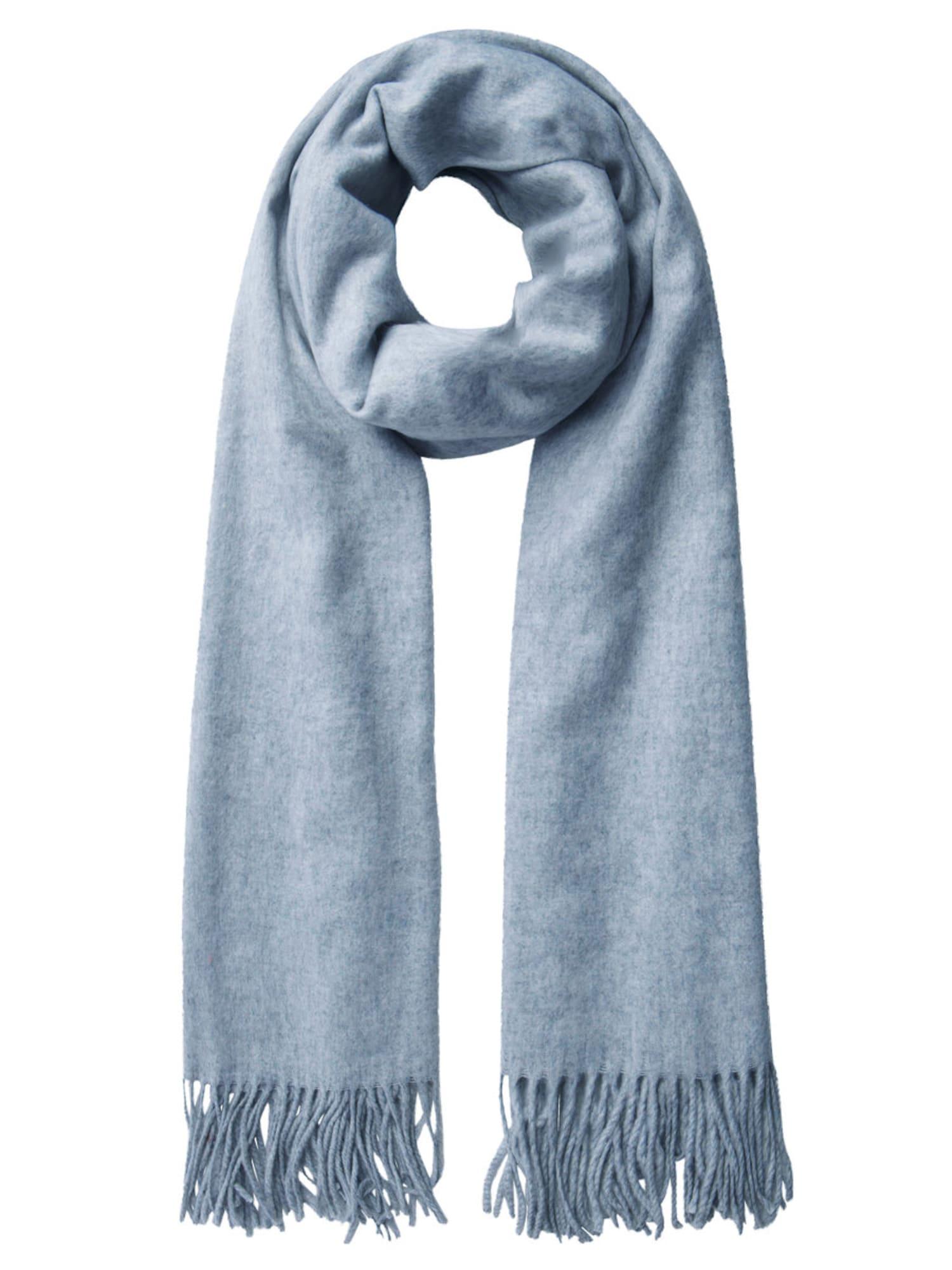 Schals für Frauen - PIECES Woll Schal hellgrau  - Onlineshop ABOUT YOU