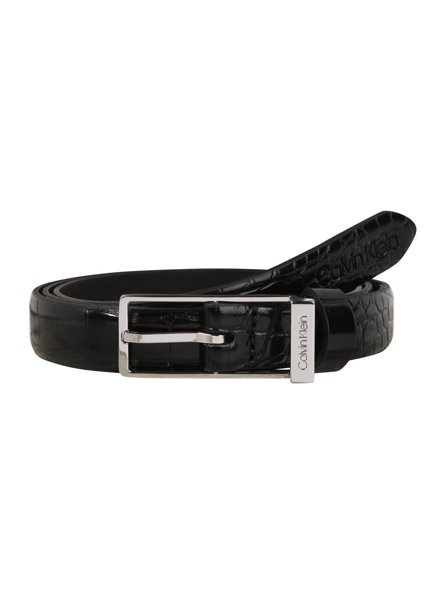 Calvin Klein Diržas 'WINGED 2CM CROC' juoda
