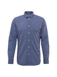 SELECTED HOMME Herren Casual-Hemd mit Muster SHHONEMOONIE blau | 05713726024780