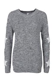 Q/S Designed By Damen Strickpullover mit Sternen schwarz,weiß | 04056523465068
