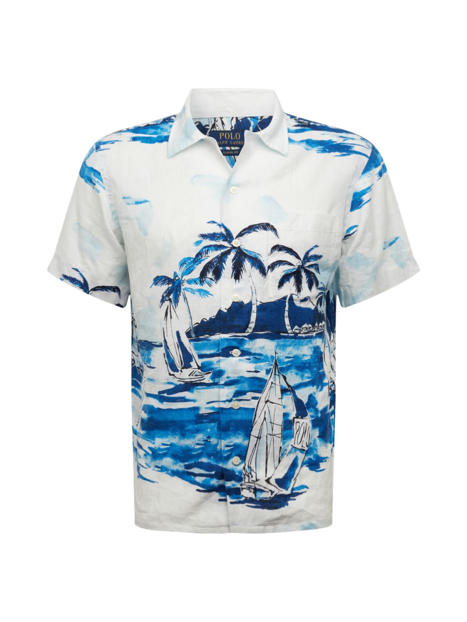 POLO RALPH LAUREN Marškinėliai 'PADYSS' mėlyna / natūrali balta
