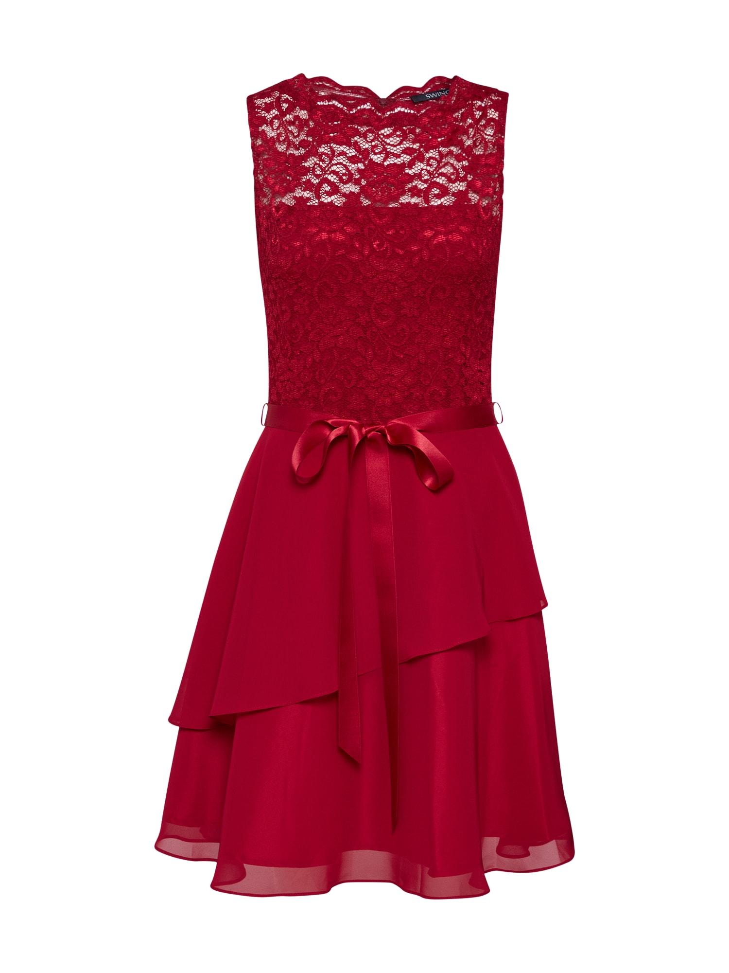 SWING Suknelė vyno raudona spalva