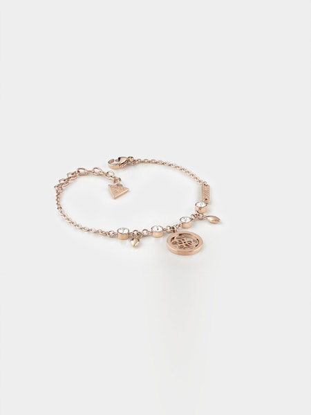 Armbaender für Frauen - GUESS Armband 'Tropical Sun' rosegold weiß  - Onlineshop ABOUT YOU