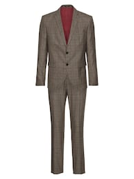 Herren SELECTED HOMME Anzug SLHSLIM-MYLOLOGAN BROWN CHECK SUIT B braun | 05713750446732