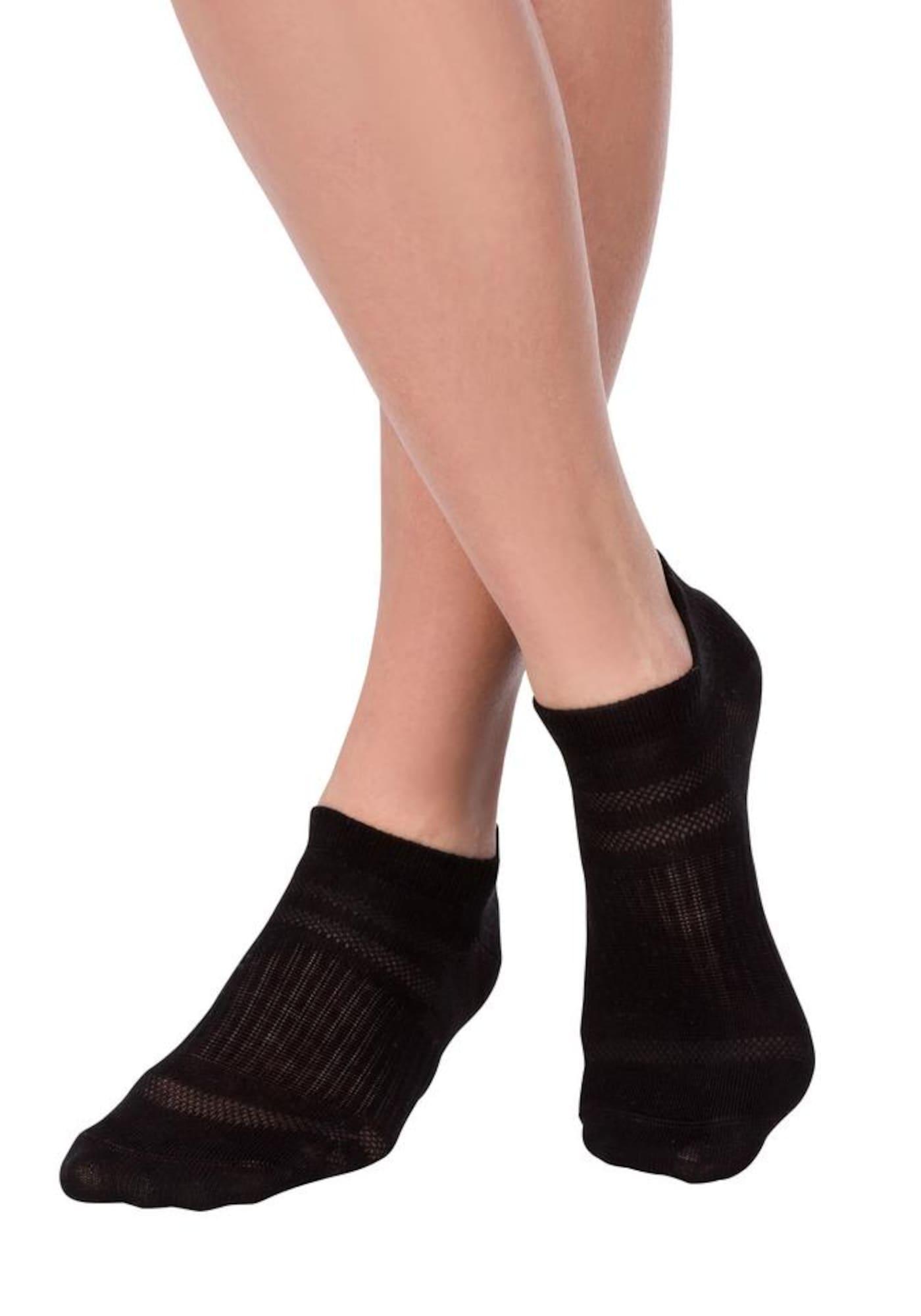 LASCANA ACTIVE Sportinės kojinės juoda