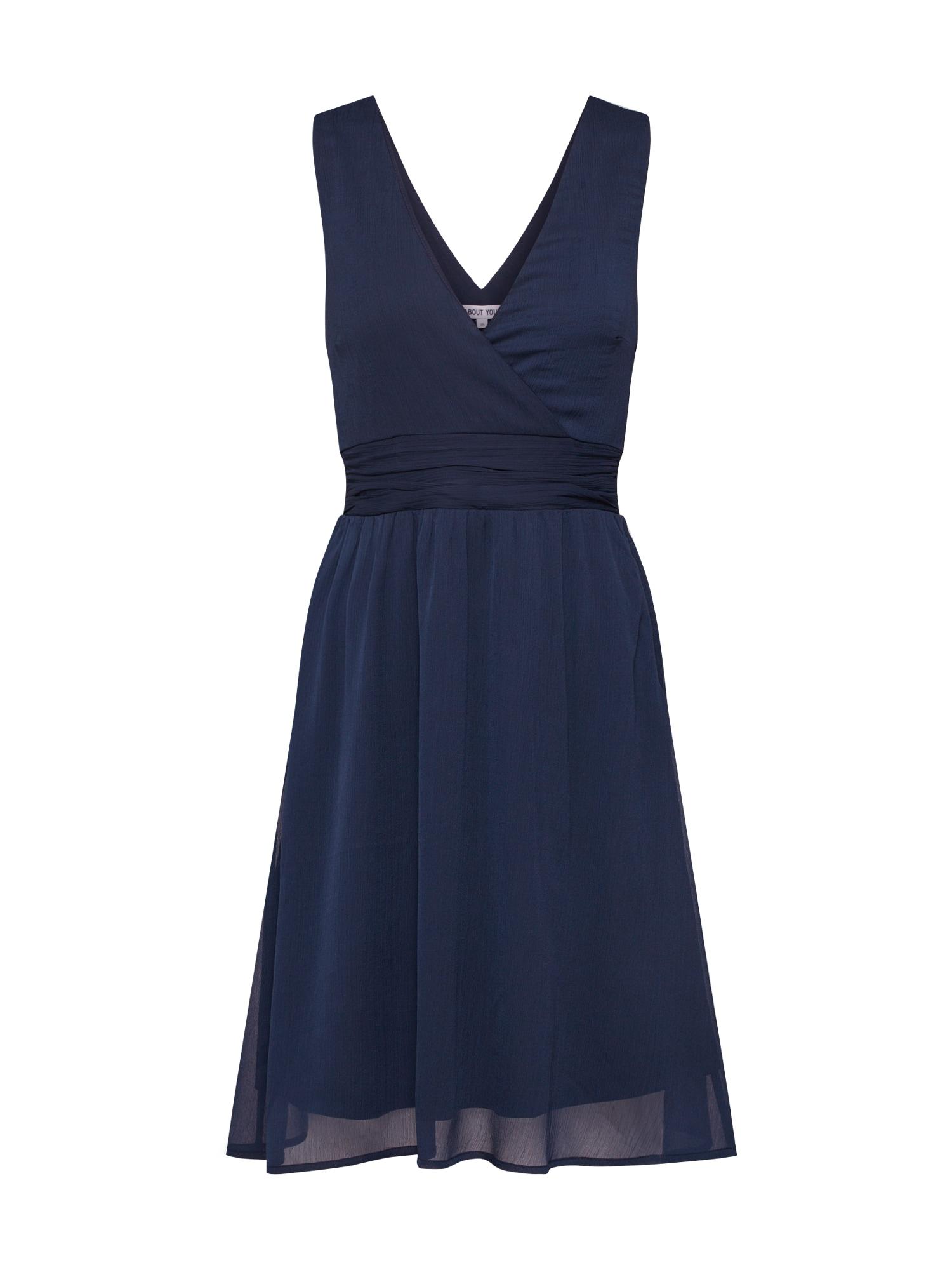 ABOUT YOU Kokteilinė suknelė 'Amanda' tamsiai mėlyna