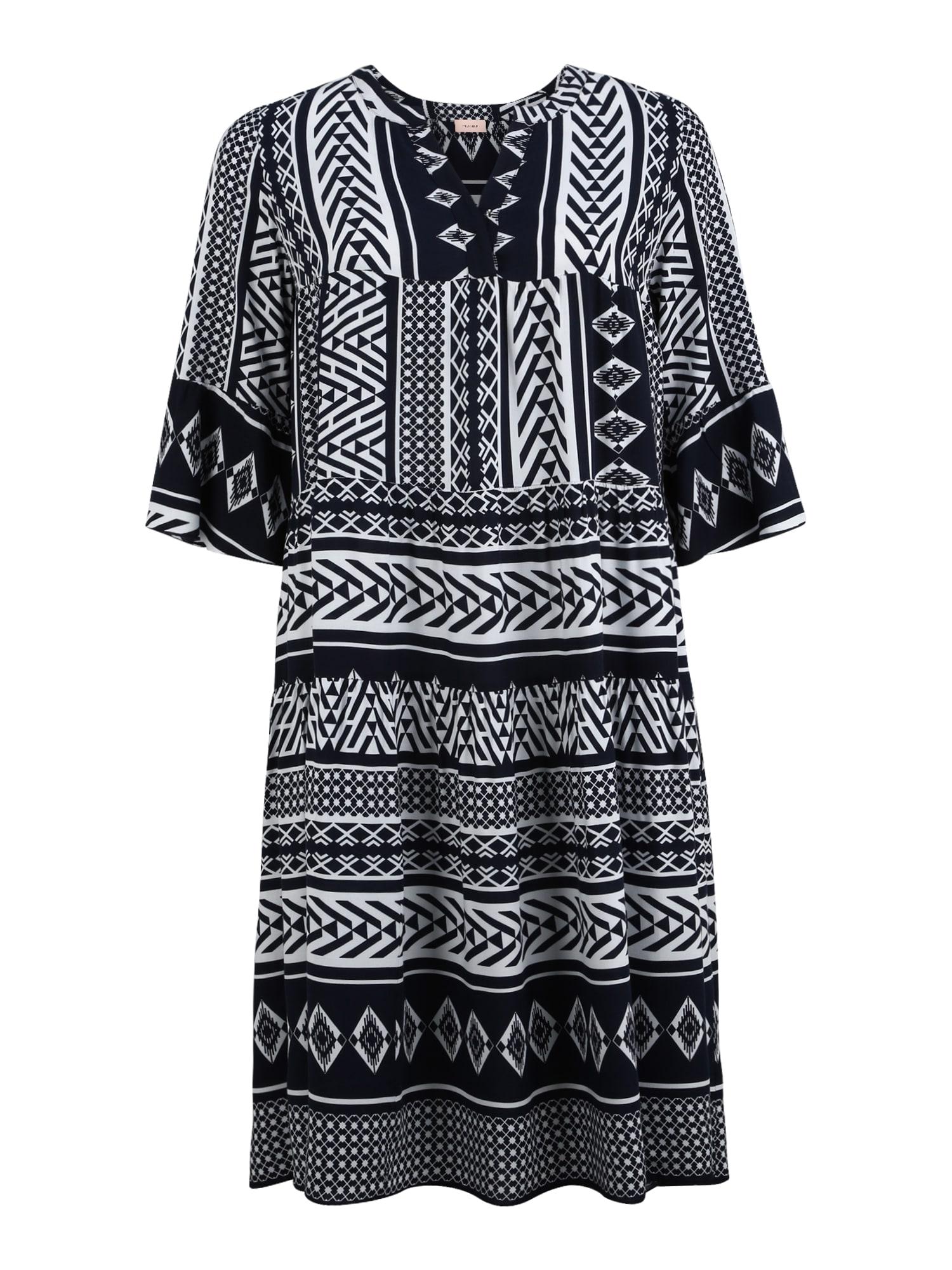 TRIANGLE Palaidinės tipo suknelė balta / tamsiai mėlyna