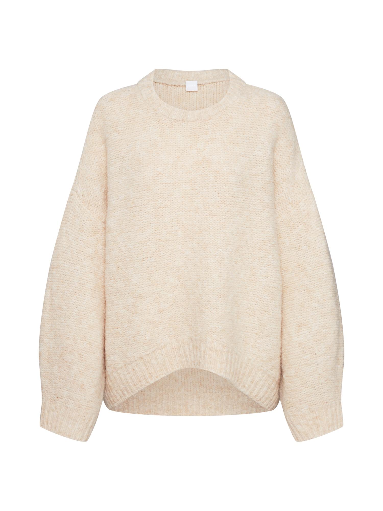 BOSS Megztinis vilnos balta