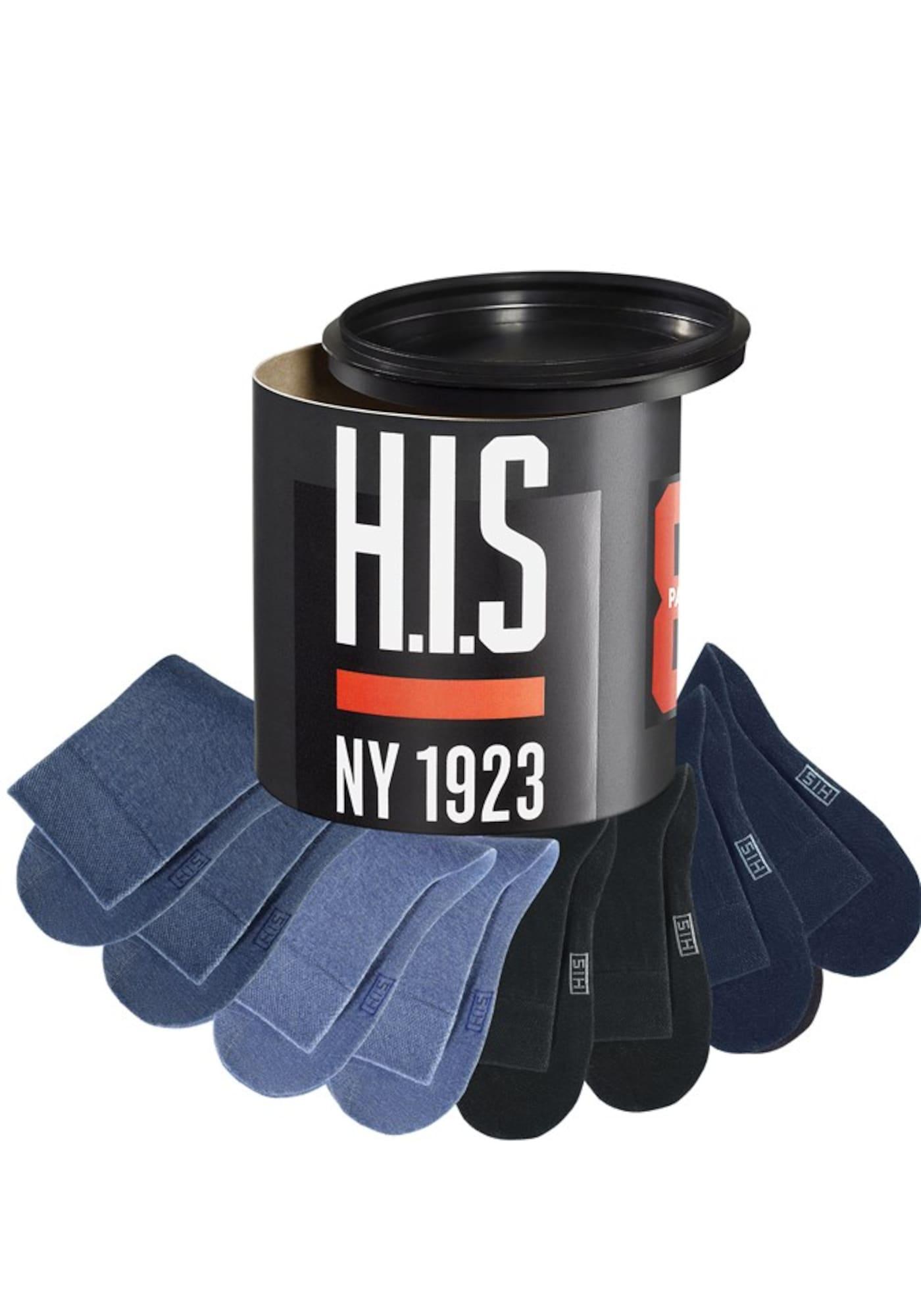 H.I.S Kojinės tamsiai mėlyna / tamsiai (džinso) mėlyna / margai mėlyna / juoda