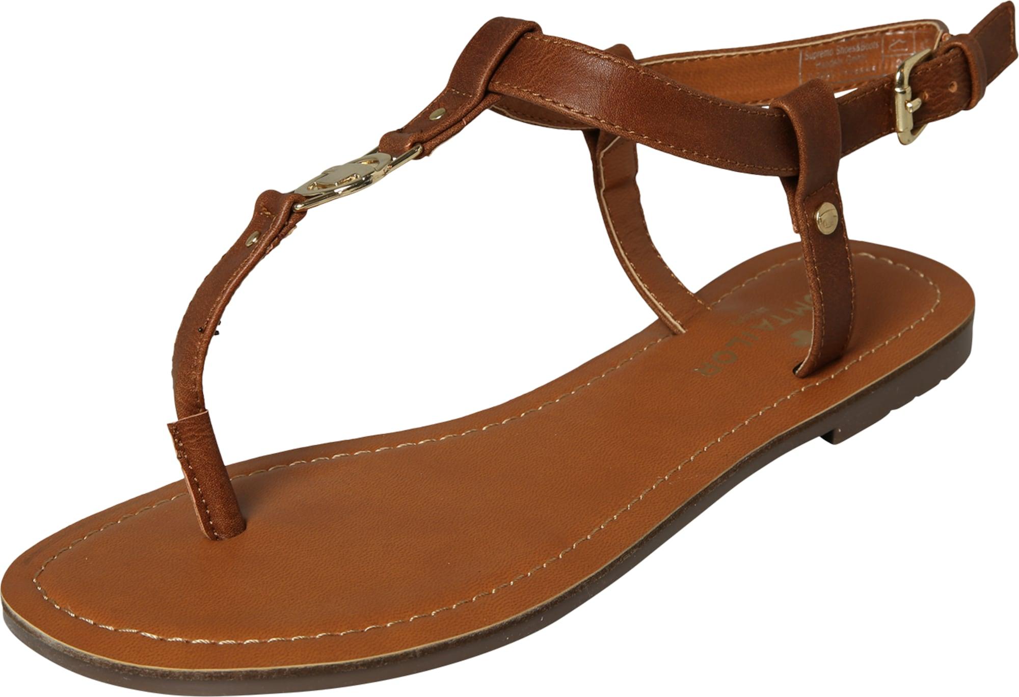 tom tailor zehentrenner sandalen in braun about you. Black Bedroom Furniture Sets. Home Design Ideas