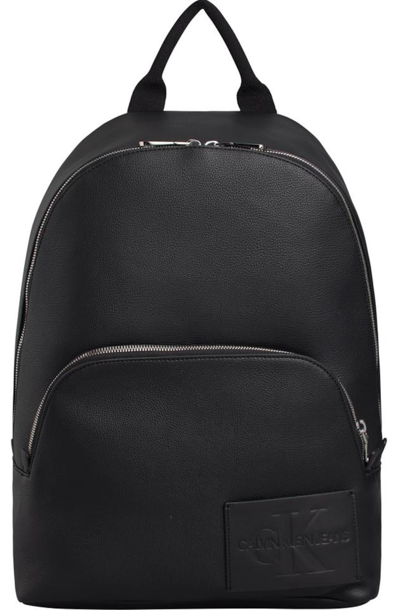 Calvin Klein Jeans Kuprinė 'MICRO PEBBLE CAMPUS 40' juoda