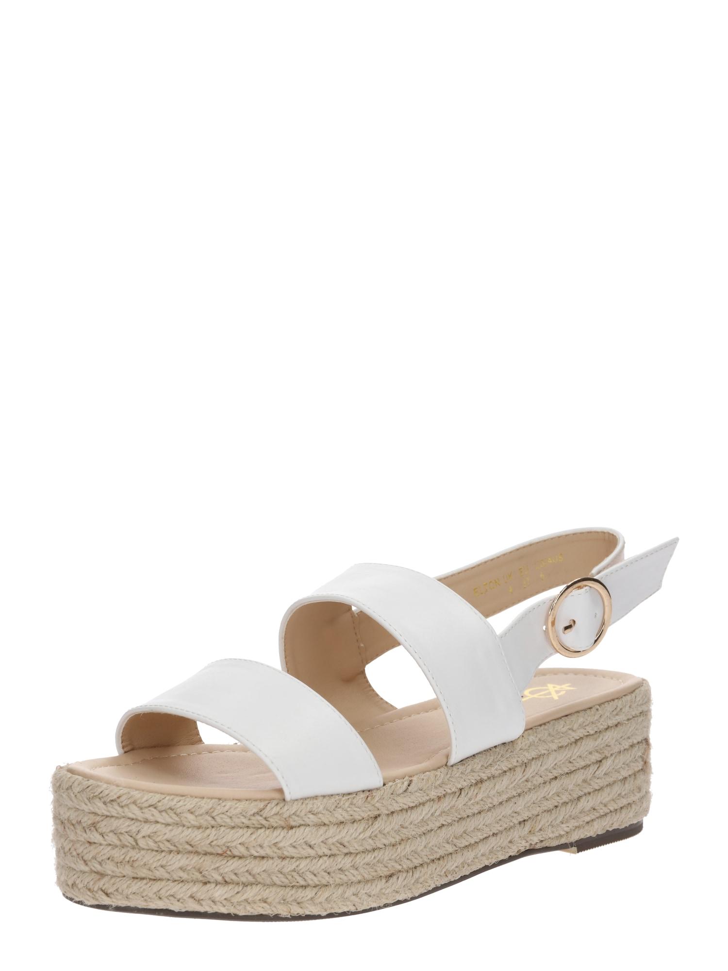 Páskové sandály ELTON bílá 4th & Reckless
