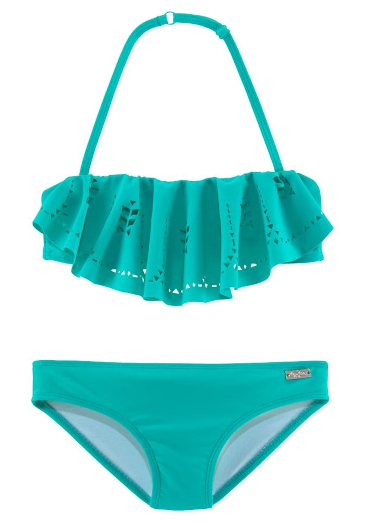 BUFFALO Bikinis 'Split Buf' turkio spalva