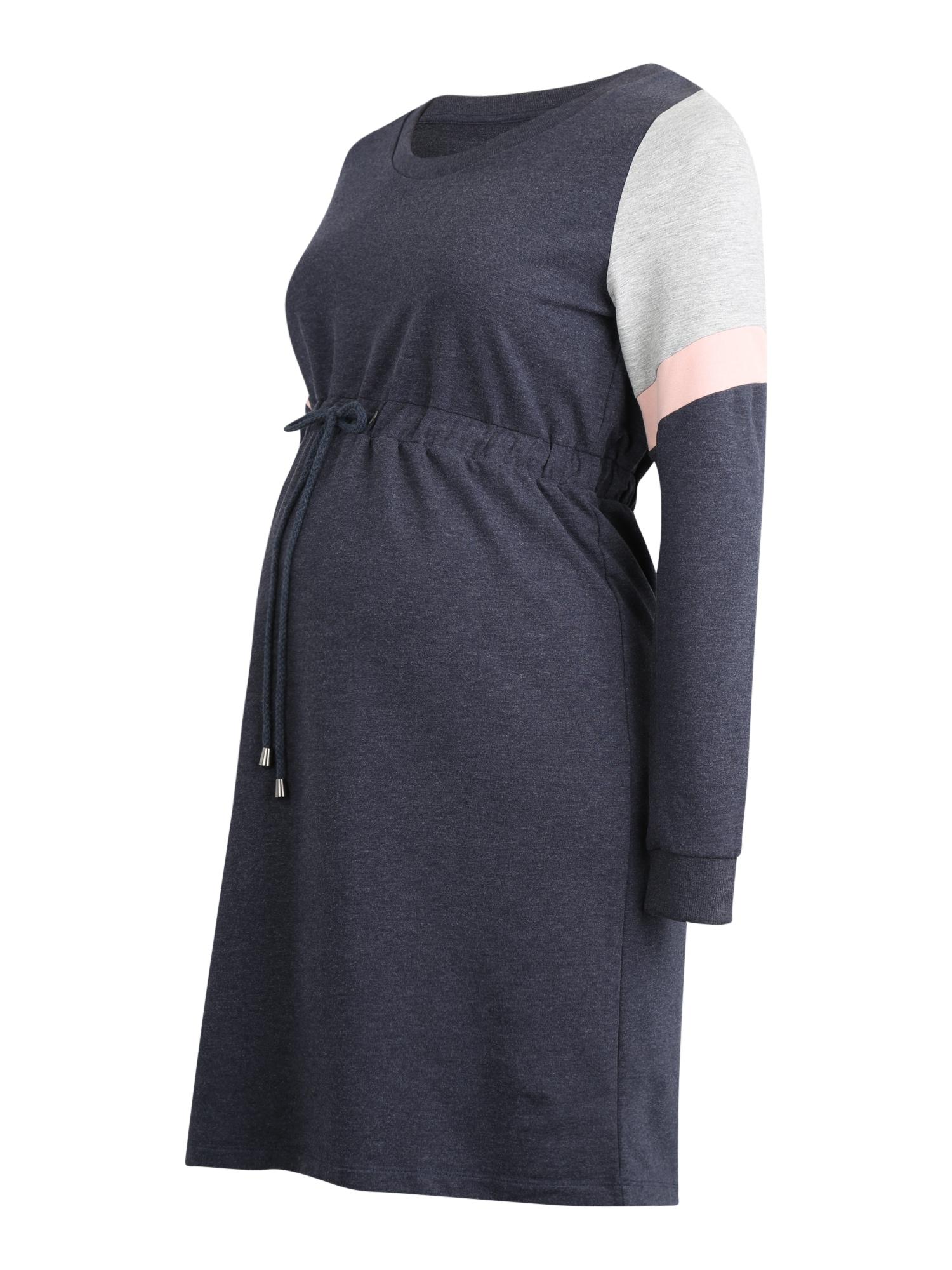 MAMALICIOUS Suknelė 'Mena' pilka / rožių spalva / tamsiai mėlyna