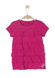 S.Oliver,S.Oliver Junior,s.Oliver Kinder,Mädchen Volantshirt pink | 04055268398273