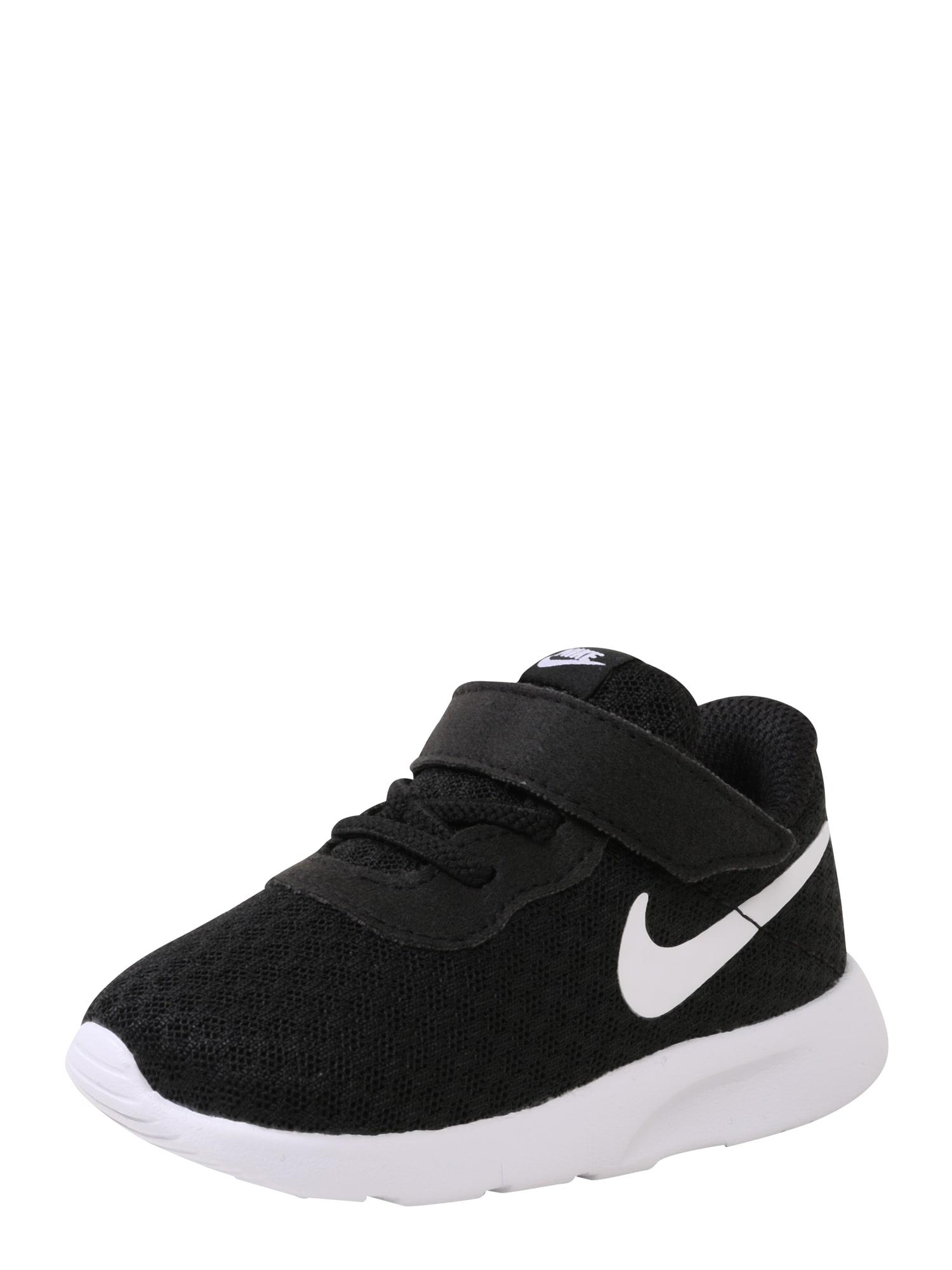 NIKE Sportiniai batai 'Tanjun Toddler' juoda / balta