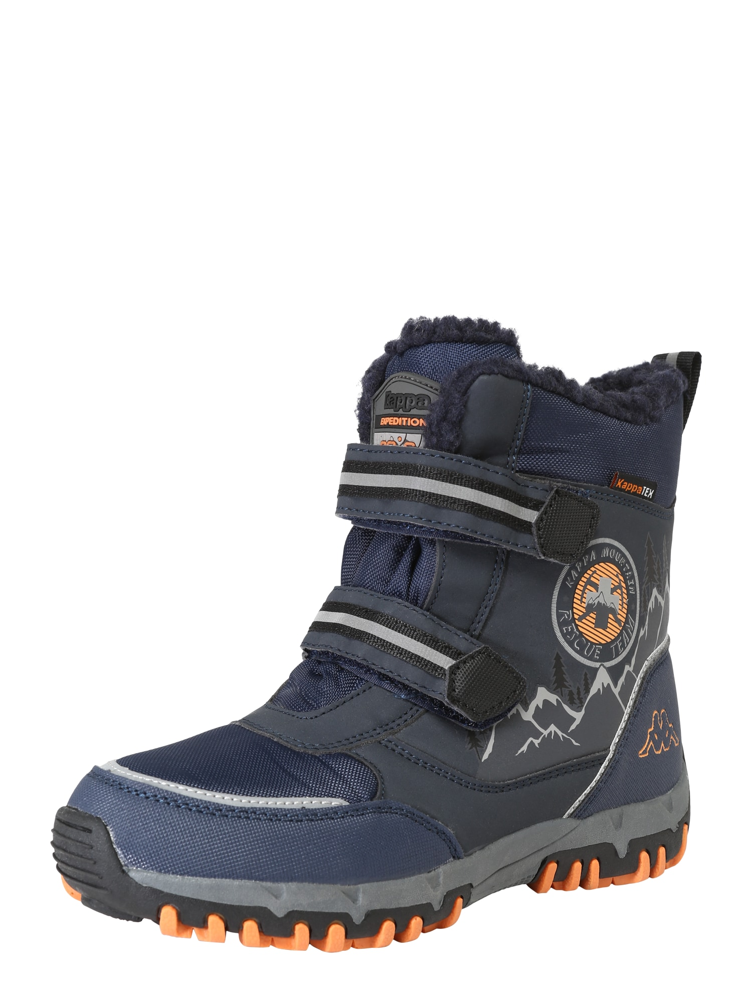 KAPPA Auliniai batai su kulniuku 'RESCUE TEX' tamsiai mėlyna / oranžinė