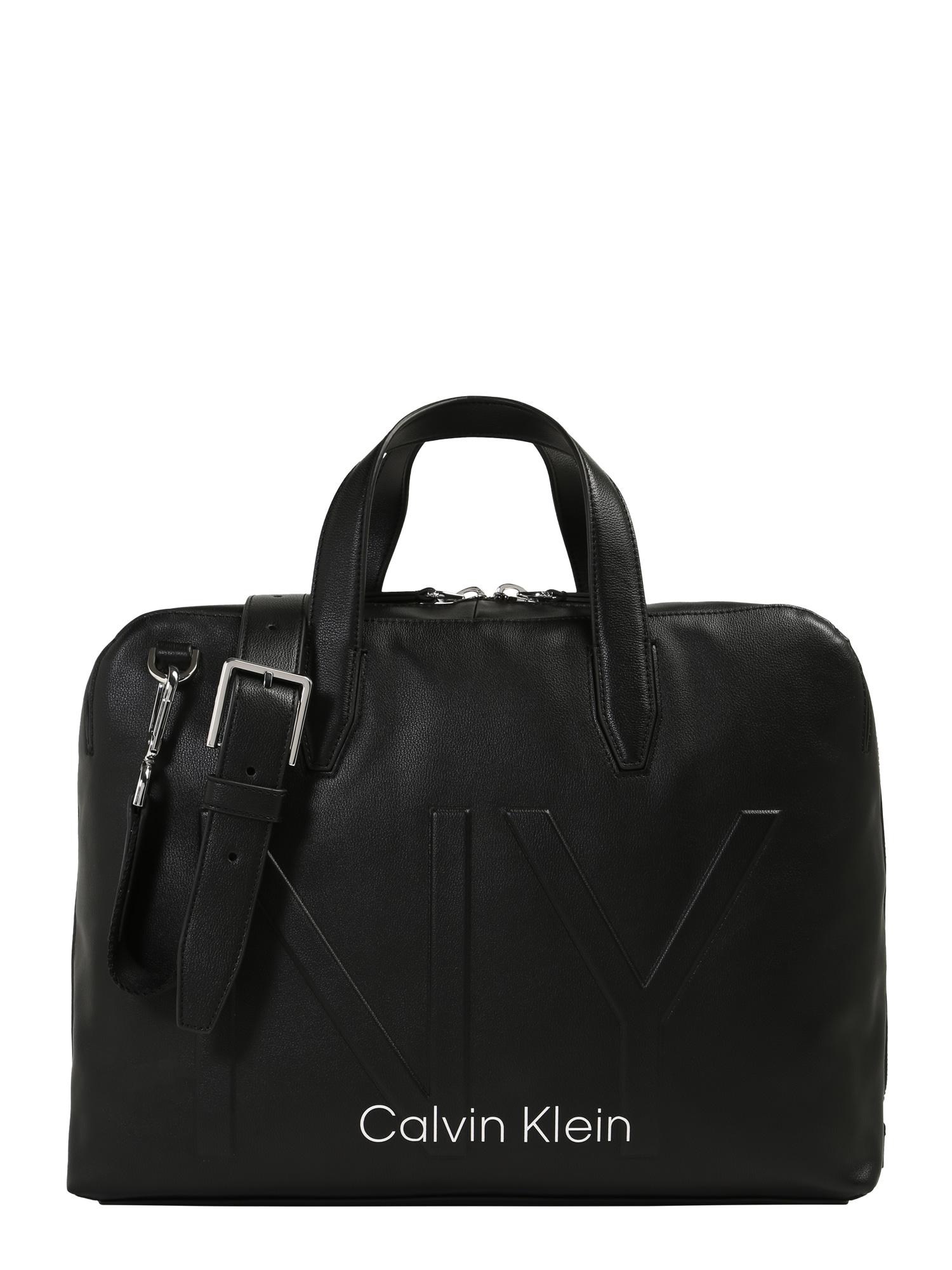 Calvin Klein Nešiojamojo kompiuterio krepšys 'NY SHAPED LAPTOP BAG' juoda