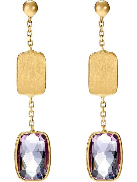 Ohrringe für Frauen - CHRIST Ohrhänger gold purpur  - Onlineshop ABOUT YOU