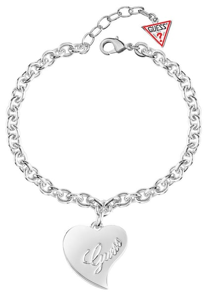 Armbaender für Frauen - GUESS Armband 'Love Cuore' silber  - Onlineshop ABOUT YOU