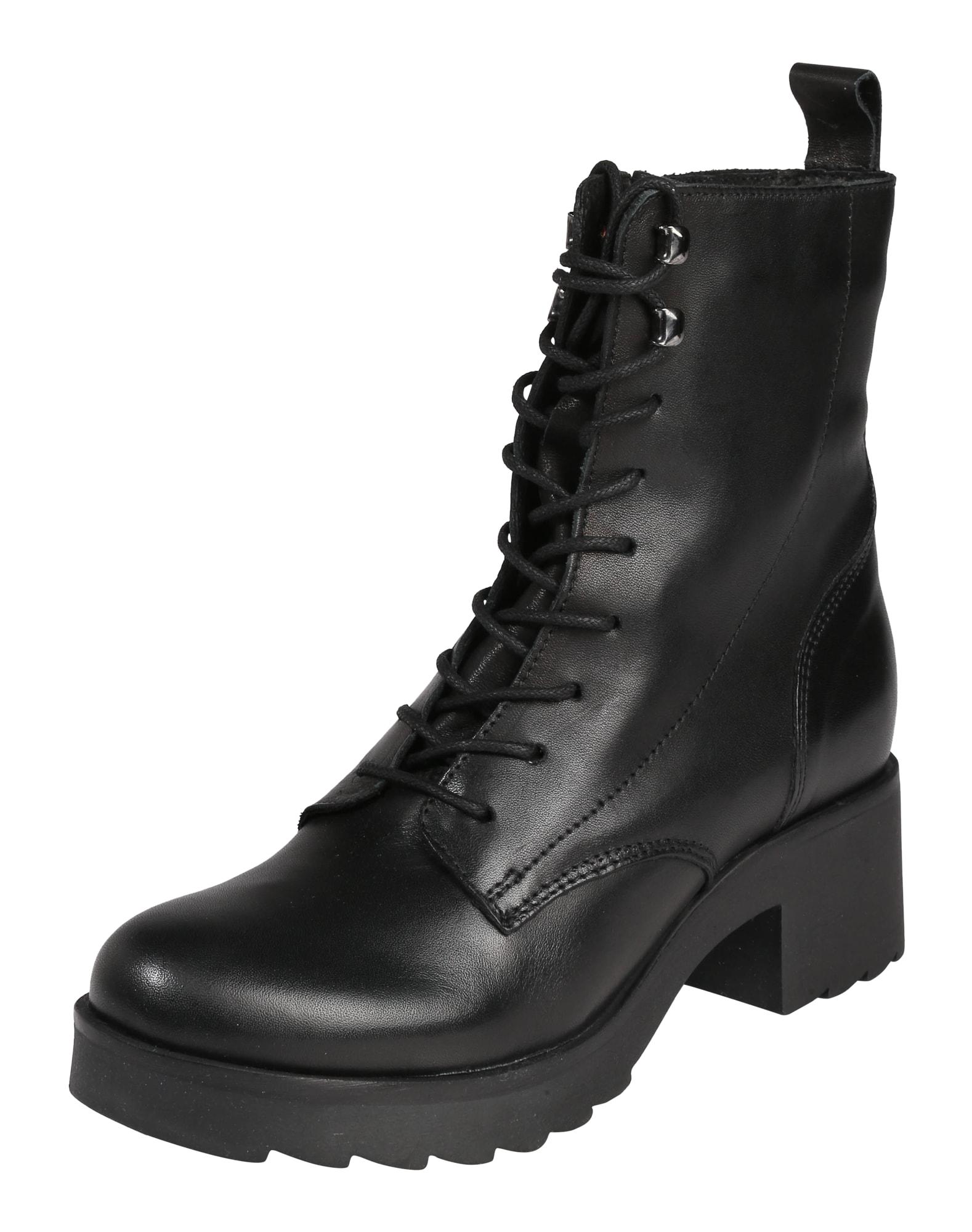 Šněrovací boty černá Zign