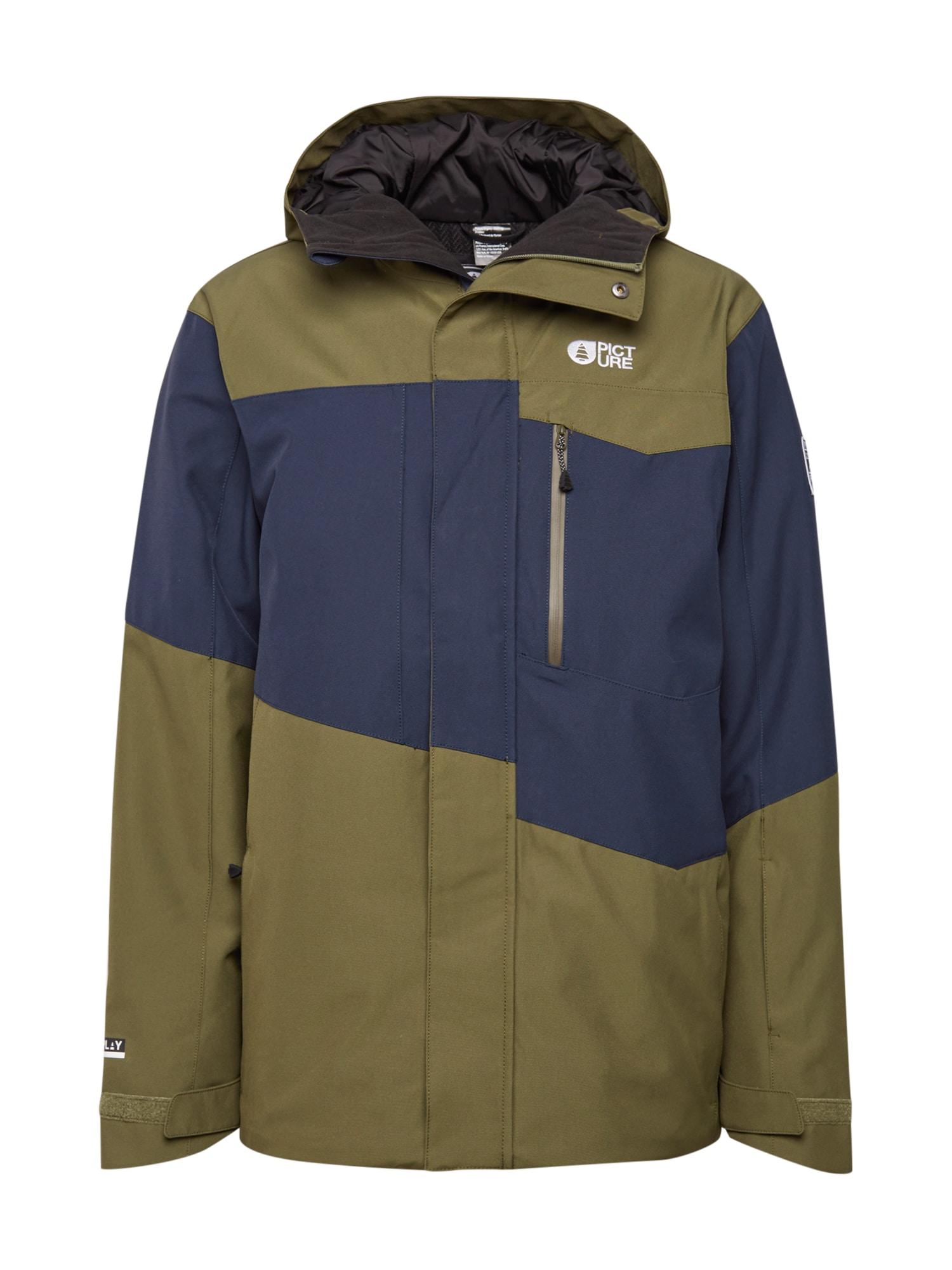 Picture Organic Clothing Laisvalaikio striukė rusvai žalia / tamsiai mėlyna