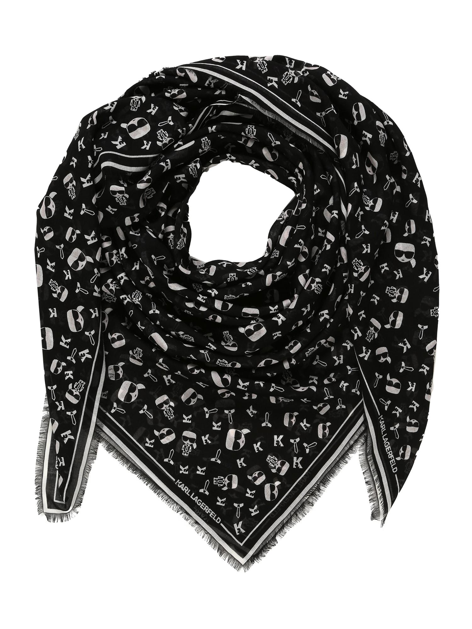 Karl Lagerfeld Látková rouška 'Ikonik'  bílá / černá