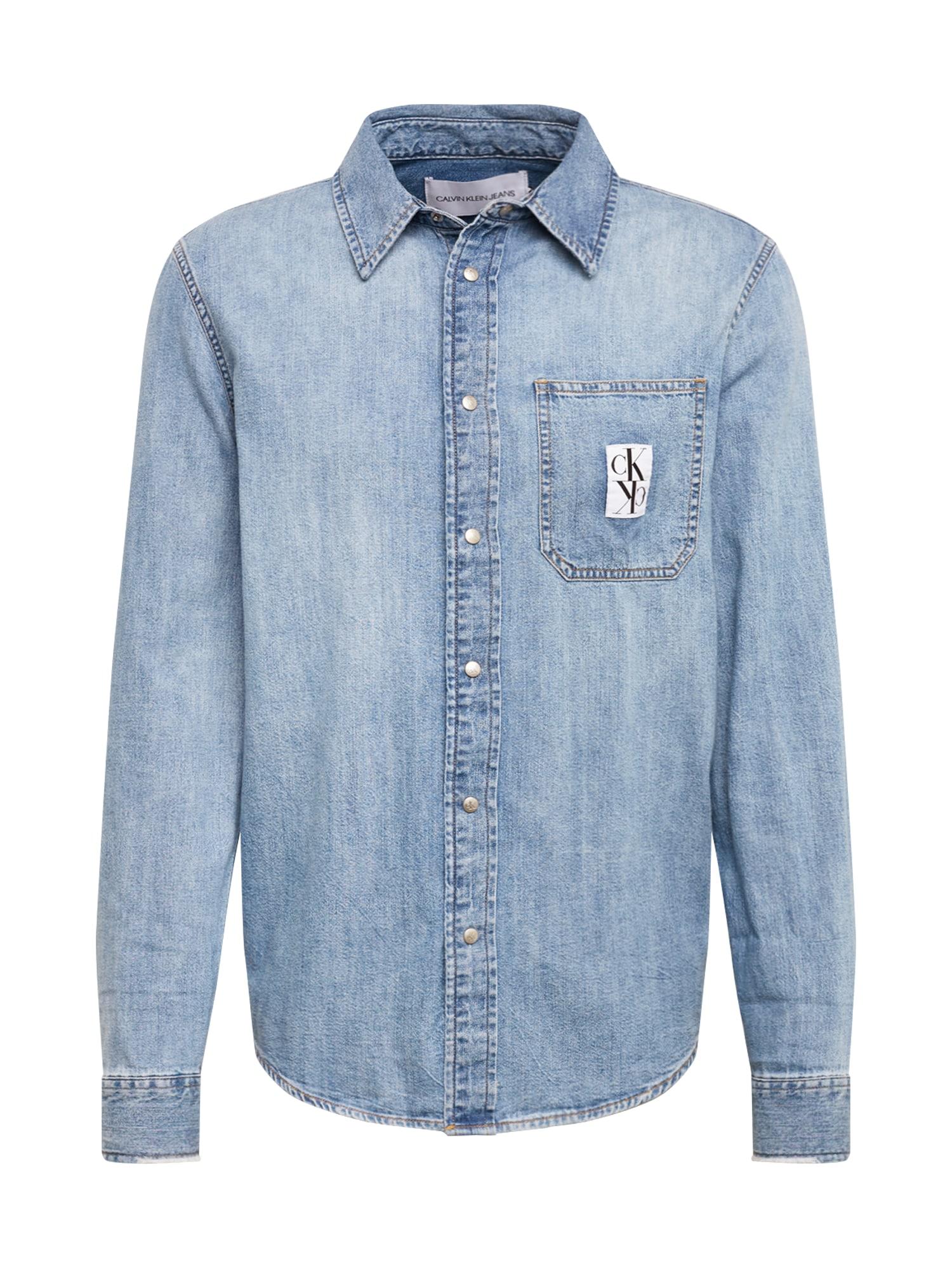 Calvin Klein Jeans Dalykiniai marškiniai tamsiai (džinso) mėlyna