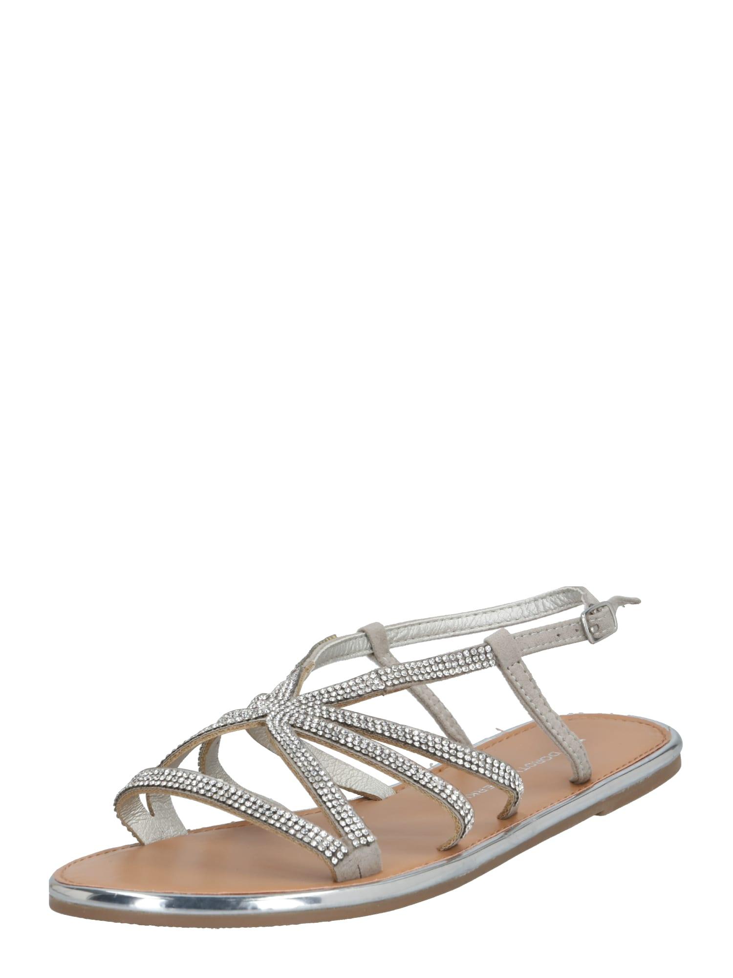 Dorothy Perkins Remienkové sandále 'Figaro'  strieborná