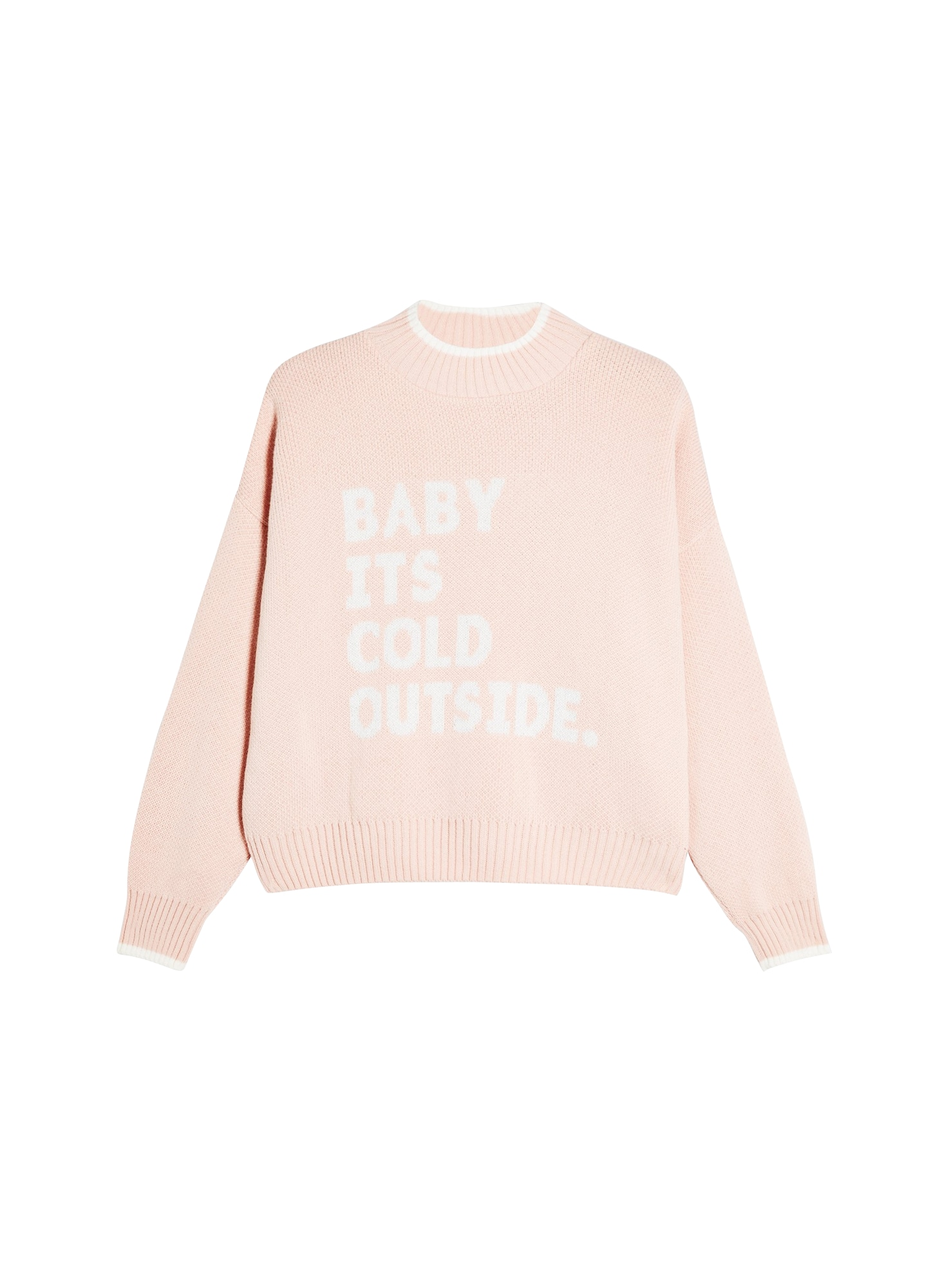 Miss Selfridge Pulover 'Baby its cold outside'  roz / alb