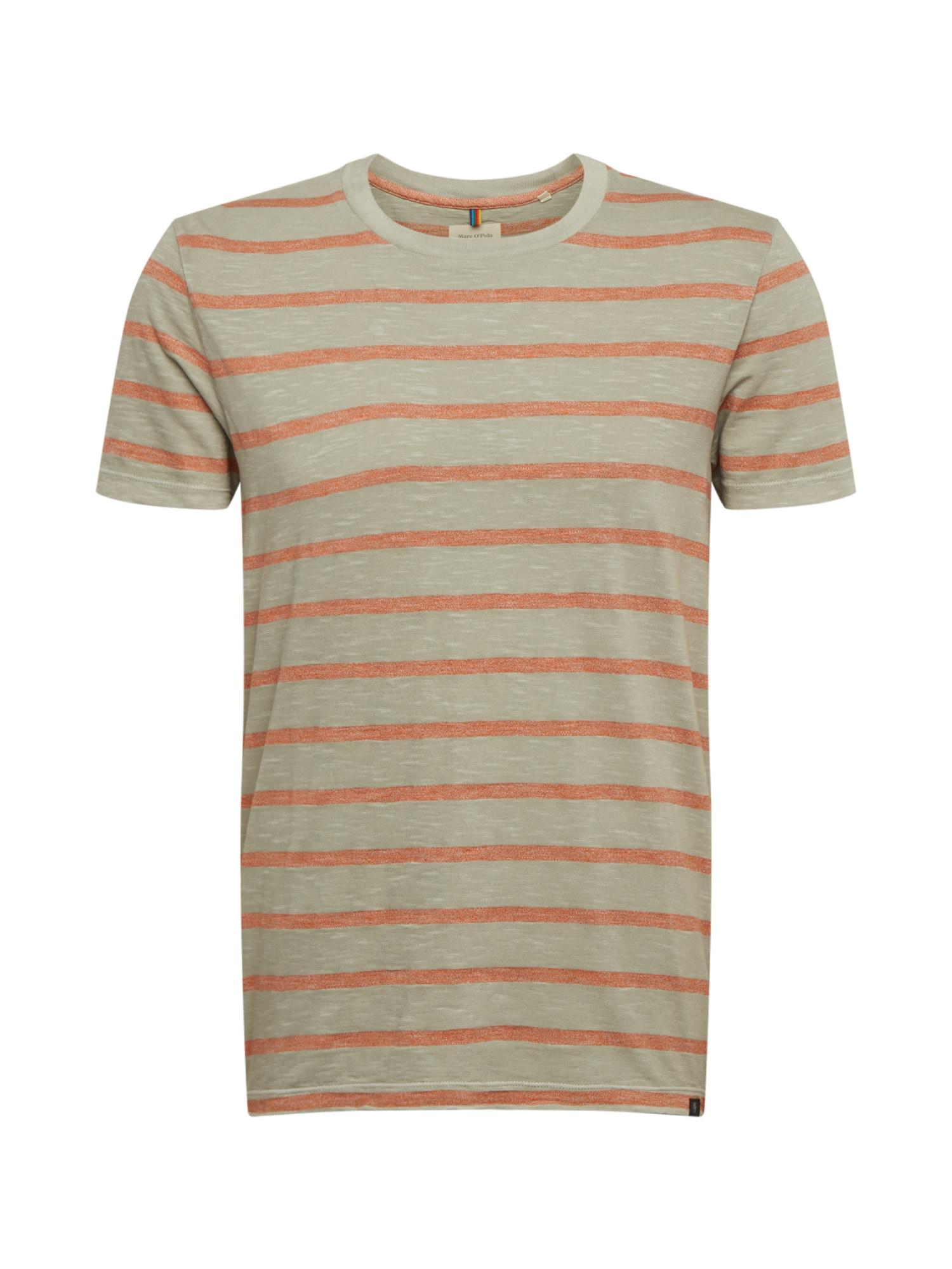 Marc O'Polo Marškinėliai 'Organic' pilka / oranžinė