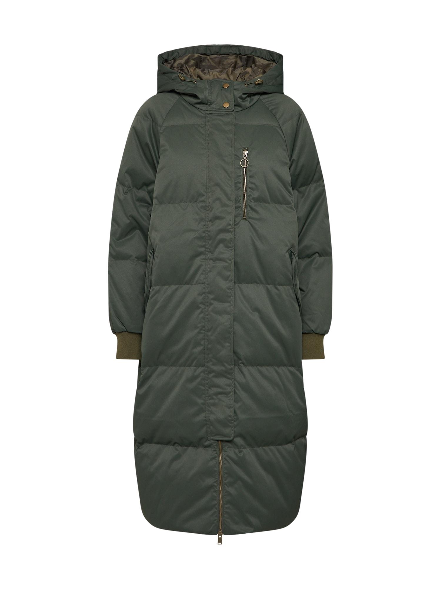 GAP Žieminis paltas 'TB OC OVSZ LONG DOWN JKT' tamsiai žalia