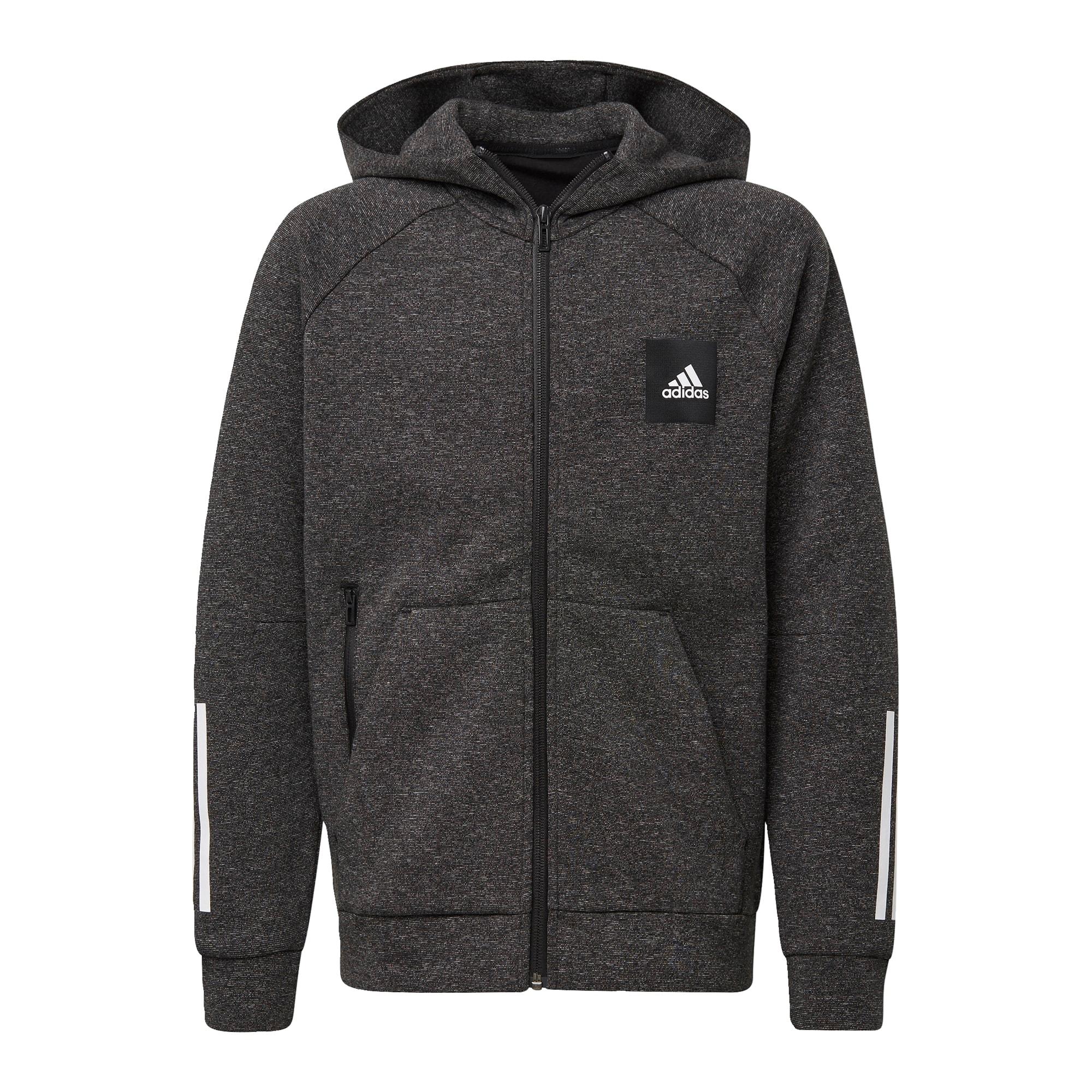 ADIDAS PERFORMANCE Sportinis džemperis margai juoda / balta