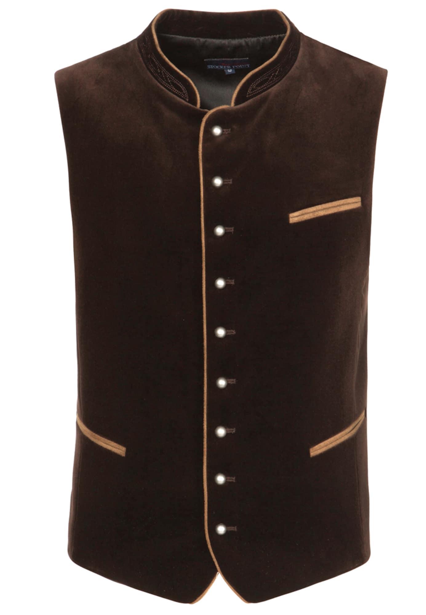 STOCKERPOINT Dalykinio stiliaus liemenė 'Ricardo' tamsiai ruda