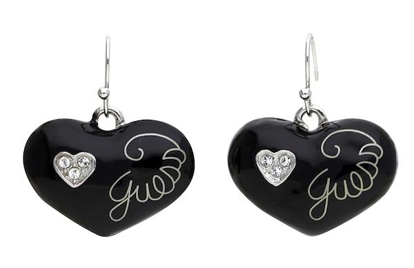 Ohrringe für Frauen - GUESS Ohrringe 'UBE81145' schwarz silber  - Onlineshop ABOUT YOU