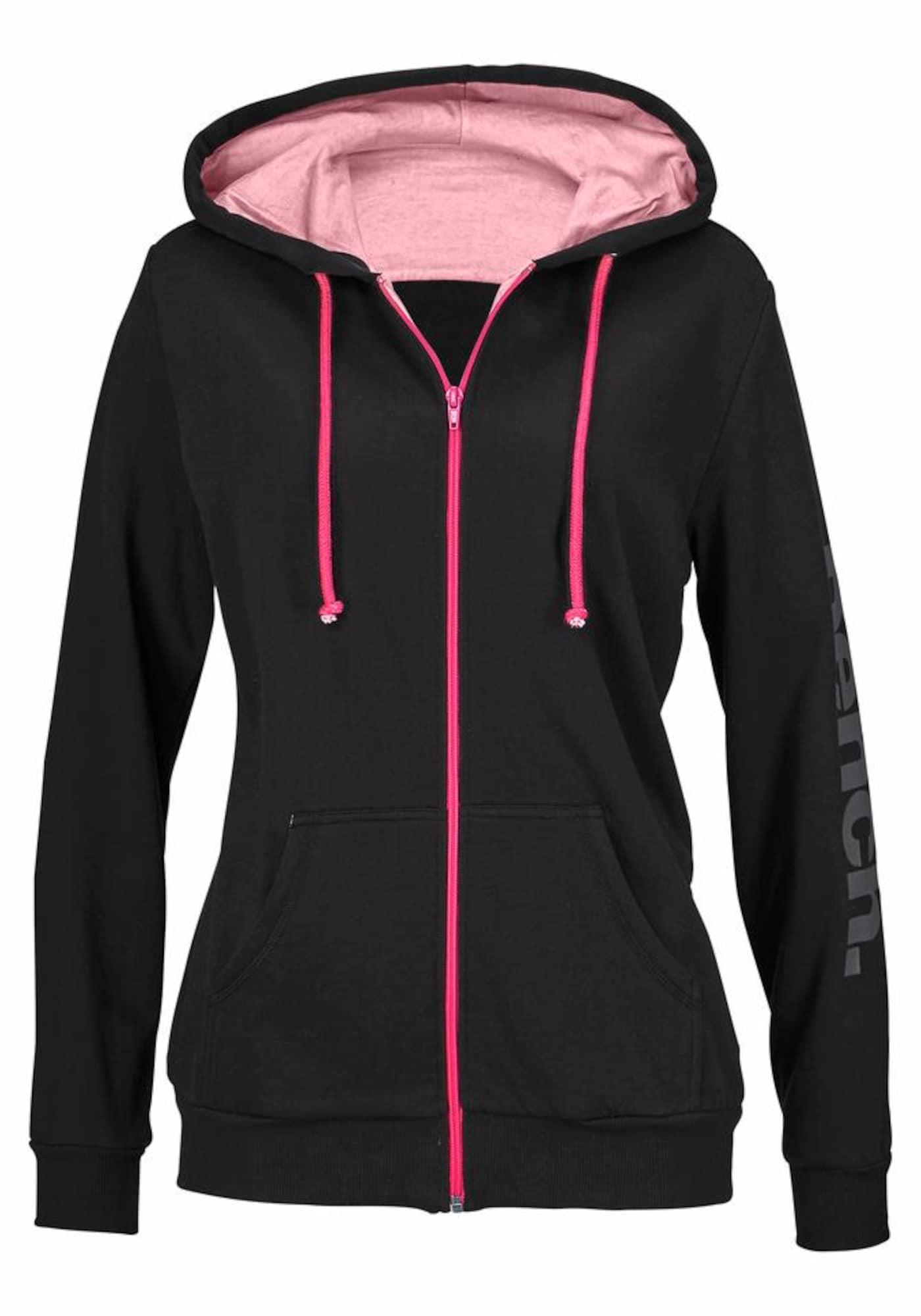 BENCH Džemperis rožinė / juoda