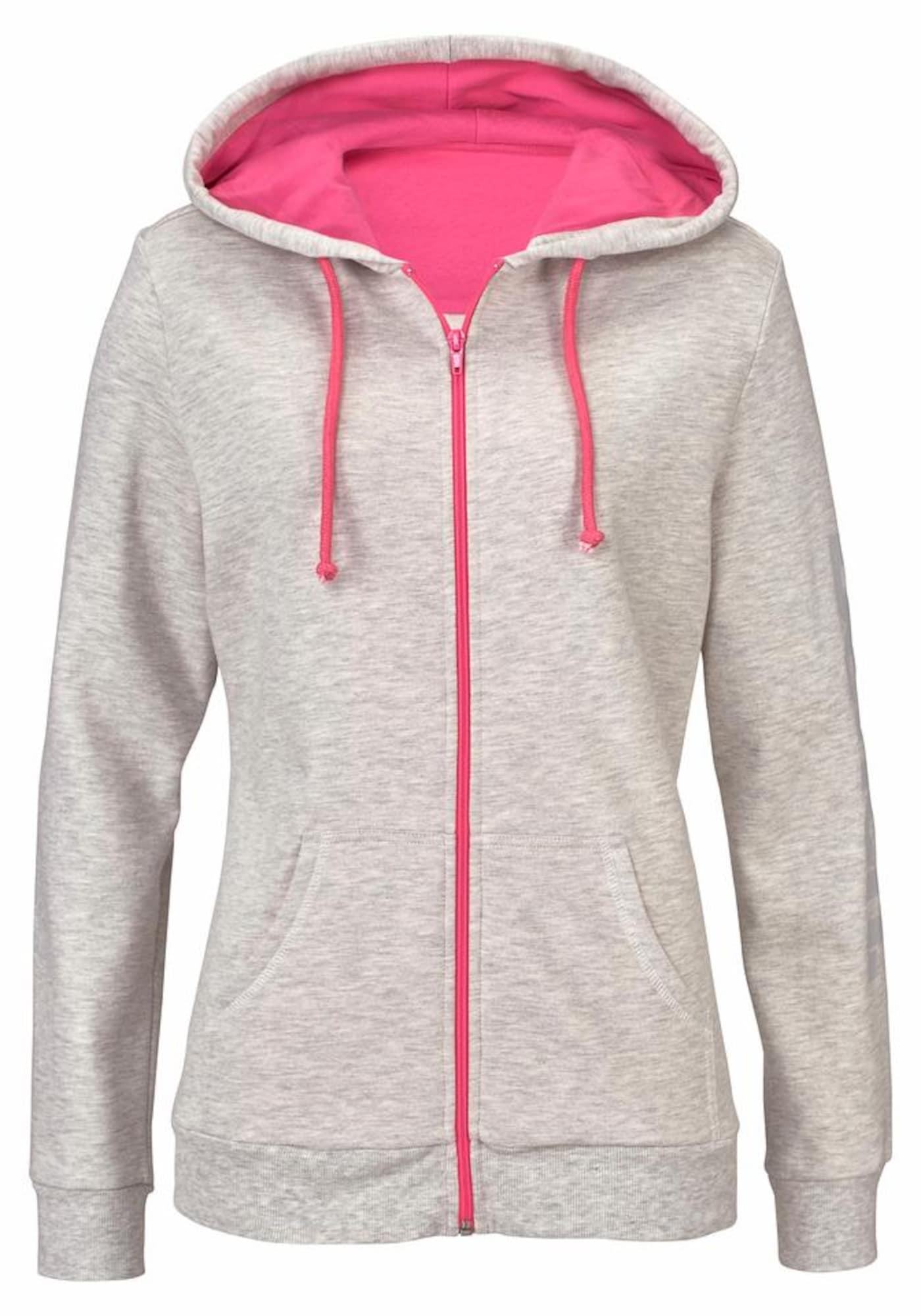 BENCH Džemperis šviesiai pilka / rožinė