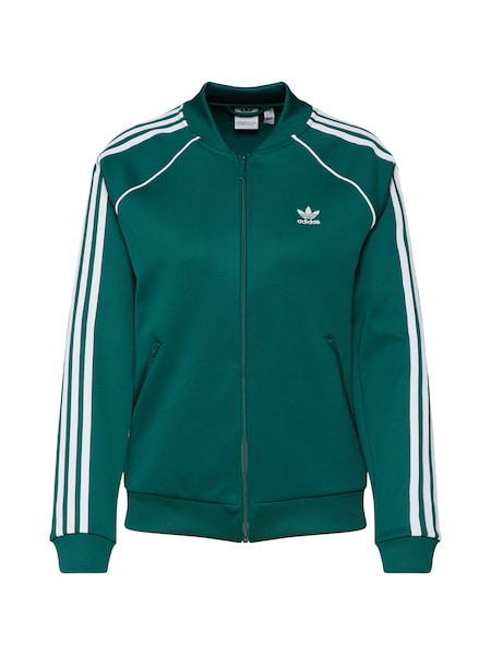 Jacken - Sweatjacke 'SST' › ADIDAS ORIGINALS › grün weiß  - Onlineshop ABOUT YOU