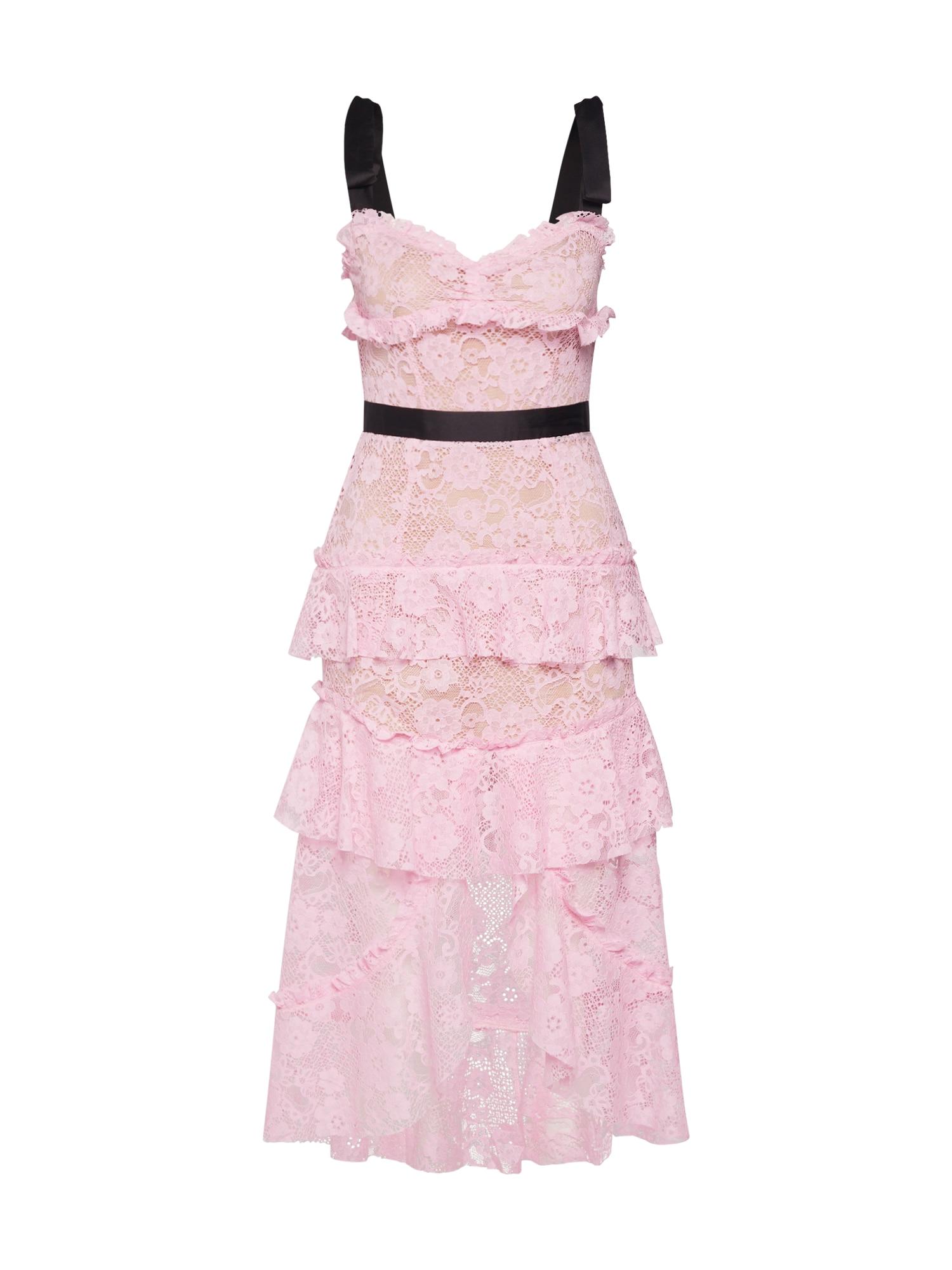 Společenské šaty IRIS HI LO růžová černá For Love & Lemons