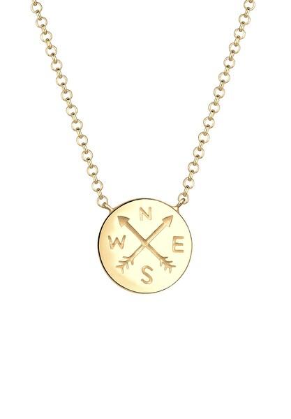 Ketten für Frauen - ELLI Halskette 'Wanderlust' gold  - Onlineshop ABOUT YOU